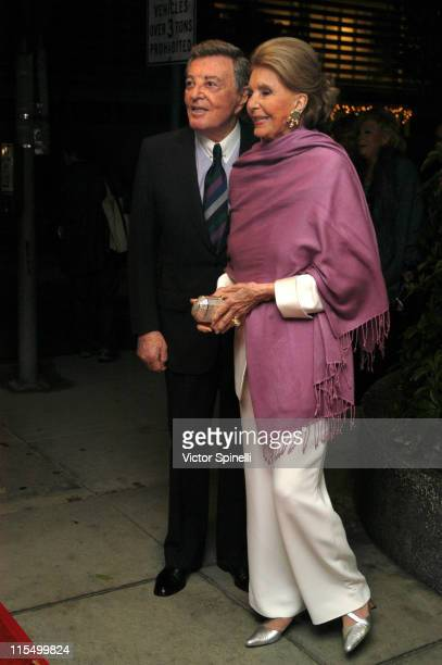 Tony Martin and wife Cyd Charisse during Tony Martin's 90th Birthday Celebration at Friars Club in Beverly Hills California United States