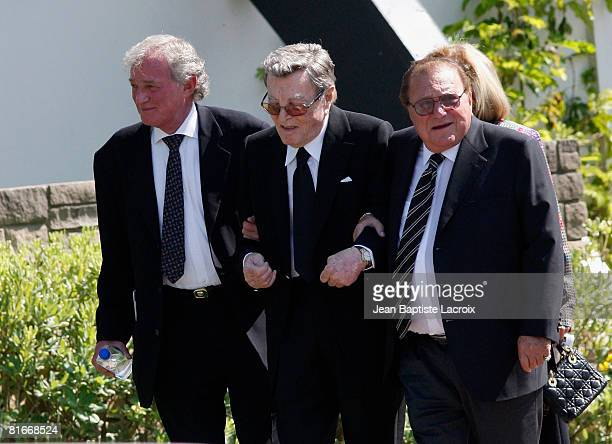 Tony Martin attends Cyd Charisse's Funeral Service at Hillside Memorial Park on June 22 2008 in Culver CityCalifornia
