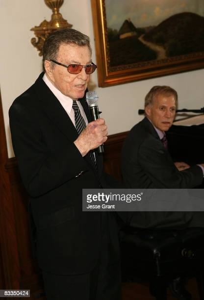 Tony Martin attends the wedding of Michael Feinstein and Terrence Flannery held at a private residence on October 17 2008 in Los Angeles California