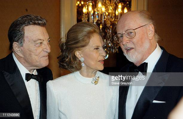 Tony Martin Cyd Charisse and John Williams during 2003 Music Center Artist Awards at The Beverly Regent Hotel in Los Angeles California United States