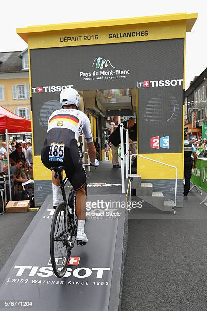 Tony Martin of Germany and EtixxQuickStep heads towards the starting gate during the 17km Individual Time Trial stage eighteen of Le Tour de France...