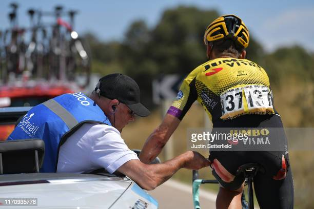 Tony Martin of Germany and Team Jumbo-Visma / Injury / Crash / Medical / Doctor / Car / during the 74th Tour of Spain 2019, Stage 6 a 198,9km stage...