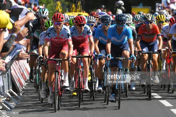 Tony Martin of Germany and Team Katusha / Ilnur Zakarin of Russia and Team Katusha / Alejandro Valverde of Spain and Movistar Team / Jose Joaquin...