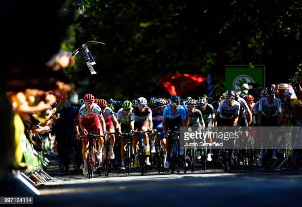 Tony Martin of Germany and Team Katusha / Pierre Latour of France and Team AG2R La Mondiale / Julian Alaphilippe of France and Team Quick-Step Floors...