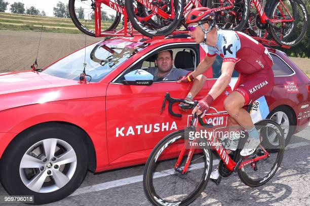 Tony Martin of Germany and Team Katusha-Alpecin / Claudio Cozzi of Italy Sports Director / Car / during the 101st Tour of Italy 2018, Stage 13 a...