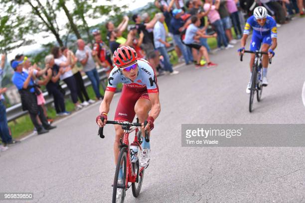 Tony Martin of Germany and Team Katusha-Alpecin / Eros Capecchi of Italy and Team Quick-Step Floors / during the 101st Tour of Italy 2018, Stage 13 a...