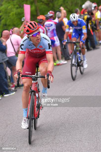 Tony Martin of Germany and Team KatushaAlpecin / Eros Capecchi of Italy and Team QuickStep Floors / during the 101st Tour of Italy 2018 Stage 13 a...