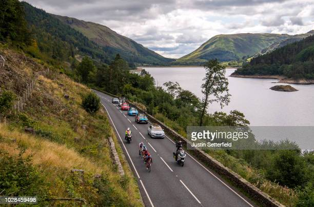 Tony Martin of Germany and Team Katusha-Alpecin / James Shaw of Great Britain and Team Lotto Soudal / Wout Poels of The Netherlands and Team Sky /...