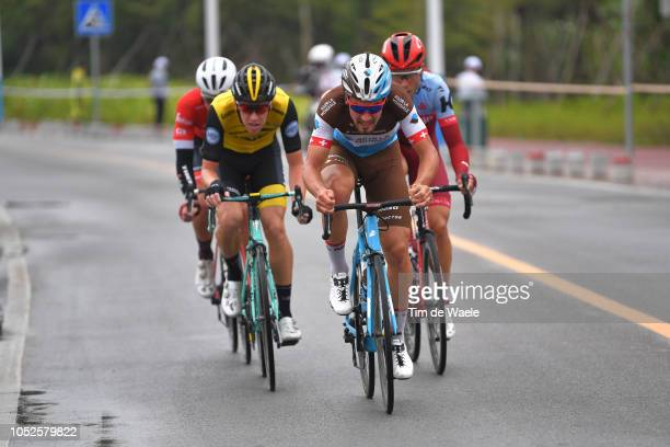Tony Martin of Germany and Team KatushaAlpecin / Silvan Dillier of Switzerland and Team Ag2R La Mondiale / Pascal Eenkhoorn of The Netherlands and...
