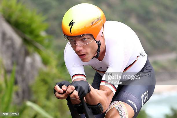 Tony Martin of Germany competes in the Cycling Road Men's Individual Time Trial on Day 5 of the Rio 2016 Olympic Games at Pontal on August 10 2016 in...