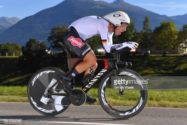 Tony Martin of Germany / during the Men Elite Individual Time Trial a 52,5km race from Rattenberg to Innsbruck 582m at the 91st UCI Road World...