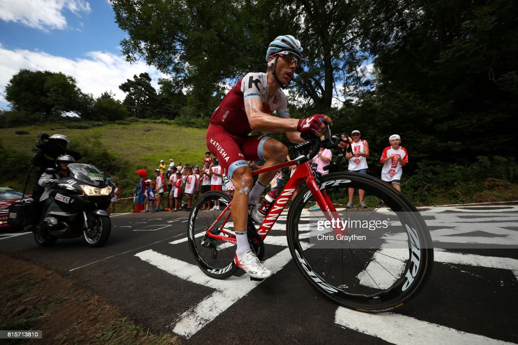 Tony Martin of Germany riding for Team Katusha Alpecin rides in the breakaway during stage 15 of the 2017 Le Tour de France, a 189.5km stage from Laissac-Sévérac l'Église to Le-Puy-en-Velay on July 16, 2017 in Le Puy-en-Velay, France.