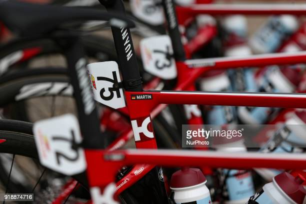 Tony Martin's bicycle of Team Katusha Alpecin before the 2nd stage of the cycling Tour of Algarve between Sagres and Alto do Foia on February 15 2018