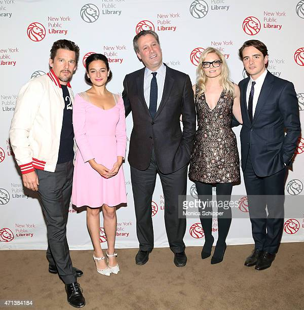 Tony Marx President and CEO New York Public Library and actors Ethan Hawke Jenny Slate Jennifer Morrison and Vincent Piazza attend the Young Lions...