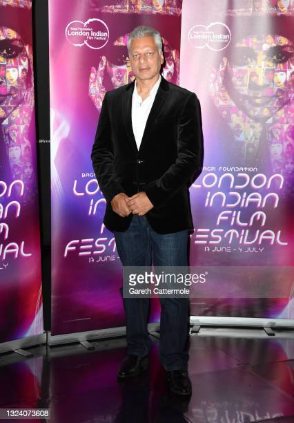 """Tony Matharu attends """"WOMB """" Screening and Opening Gala during London Indian Film Festival 2021 at BFI Southbank on June 17, 2021 in London, England."""