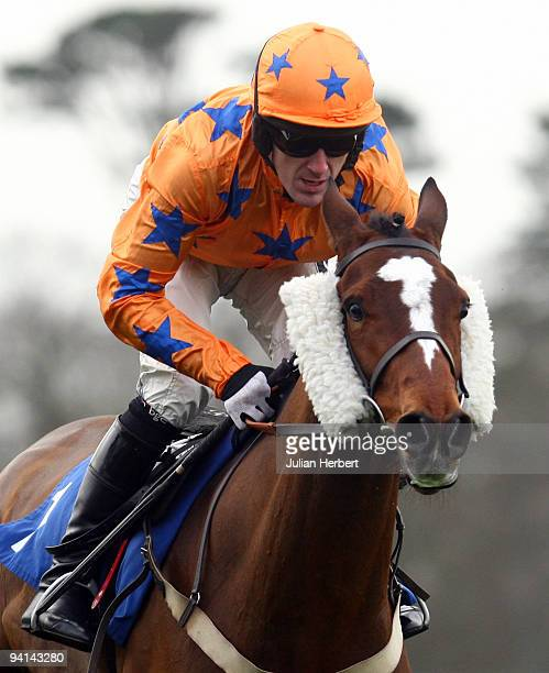 Tony McCoy arides Anak during The He Shot He Scored Peter Ward Juvenile Novices' Hurdle Race run at Fontwell Racecourse on December 8 2009 in...