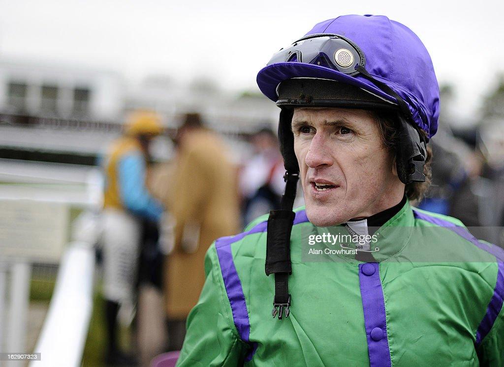 Tony McCoy poses at Newbury racecourse on March 01, 2013 in Newbury, England.