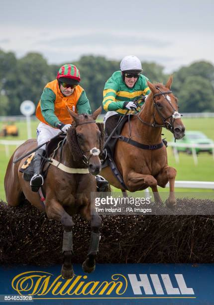 Tony McCoy rides to second on Old Pals Act in the Tonbrie Construction Handicap Steeple Chase at Worcester Racecourse