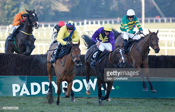 Tony McCoy riding Carlingford Lough clear the last to win The Hennessey Gold Cup at Leopardstown racecourse on February 08 2015 in Dublin Ireland
