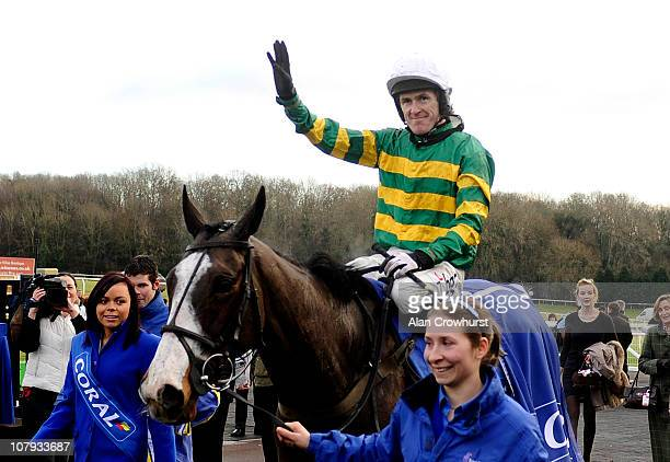 Tony McCoy riding Synchronised wins The Coral Welsh National at Chepstow racecourse on January 08, 2011 in Chepstow, Wales.