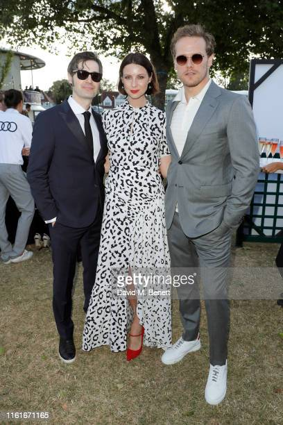 Tony McGill Caitriona Balfe and Sam Heughan Audi guests at Henley Festival Oxfordshire Friday 12 July in HenleyonThames England