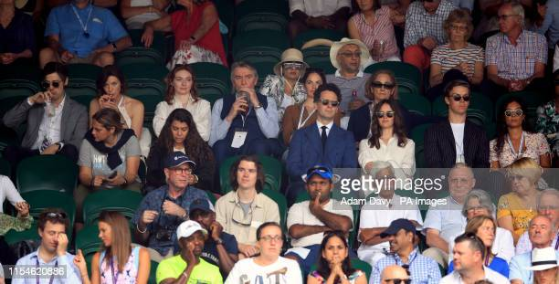 Tony McGill Caitriona Balfe Eleanor Tomlinson Malcolm Tomlinson and Ruth Wilson and Charles Guard Felicity Jones and Will Poulter in the stands of...