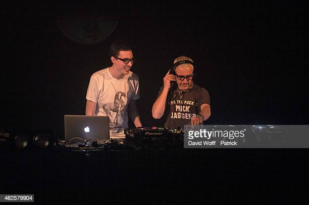 Tony McGuinness and Paavo Siljamaki from Above and Beyond perform at Le Trianon on January 31 2015 in Paris France