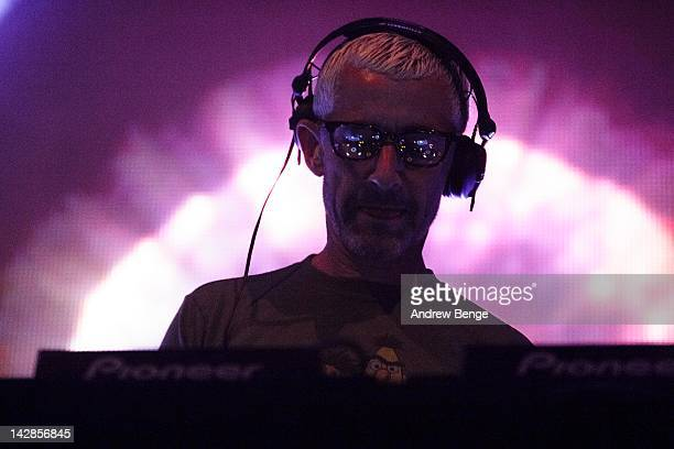 Tony McGuinness of Above Beyond performs on stage at O2 Academy on April 13 2012 in Leeds United Kingdom
