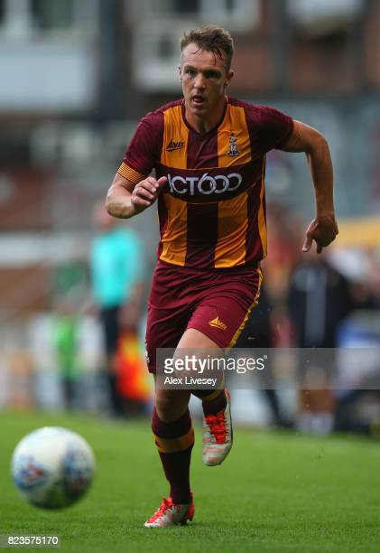 Tony McMahon of Bradford City during a preseason friendly match between Bradford City and Newcastle United at Northern Commercials Stadium on July 26...
