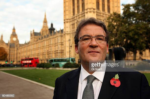 Tony McNulty a former Minister of State for Employment and Welfare Reform poses in front of the Houses of Parliament on October 29 2009 in London...