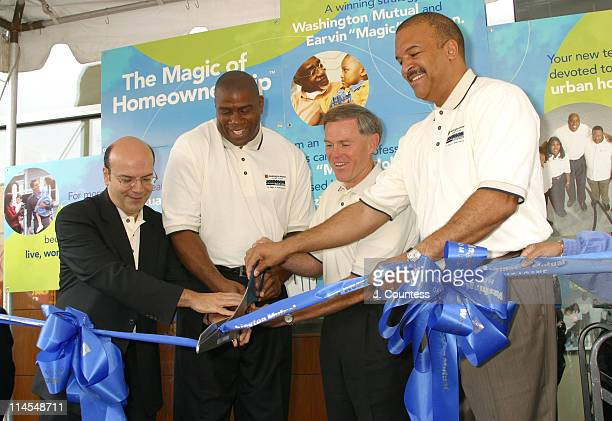 Tony Meola Executive VP of Production and Operations of Johnson Development Corporation Earvin Magic Johnson Kerry Killingher CEO/Chairmen of...