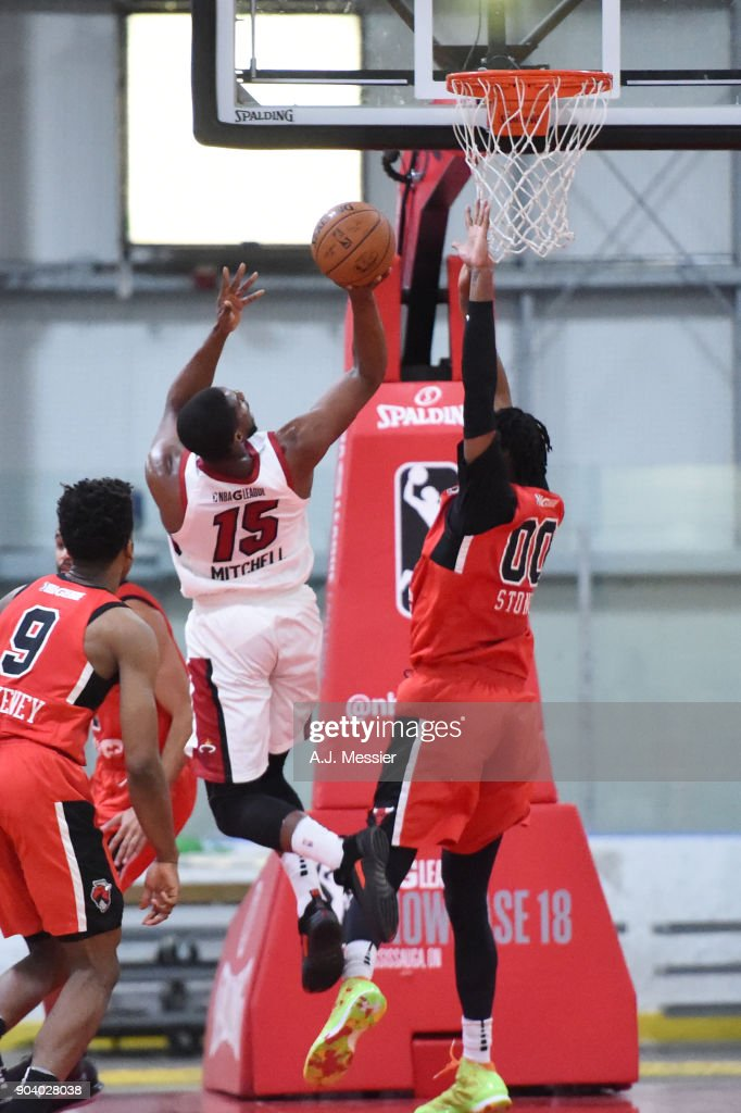 Tony Mitchell #15 of the Sioux Falls Skyforce shoots the ball during the game against the Windy City Bulls NBA G League Showcase Game 13 on January 11, 2018 at the Hershey Centre in Mississauga, Ontario Canada.