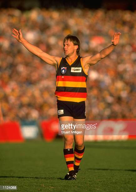 Tony Modra of the Adelaide Crows during the Round 19 AFL Football match against Port Adelaide played in Adelaide, Australia. \ Mandatory Credit:...