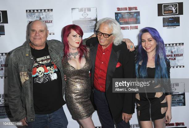 Tony Moran Julie Anne Prescott Michael St Michaels and Elissa Dowling arrive for the Clown Motel Spirit's Arise Premiere held at Downtown Independent...