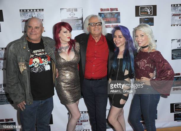Tony Moran Julie Anne Prescott Michael St Michaels Elissa Dowling and Sarah French arrive for the Clown Motel Spirit's Arise Premiere held at...