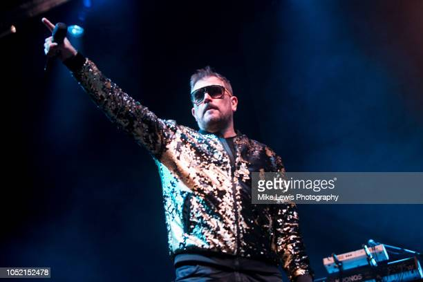 Tony Mortimer of East 17 peform on stage at Motorpoint Arena on October 14 2018 in Cardiff Wales