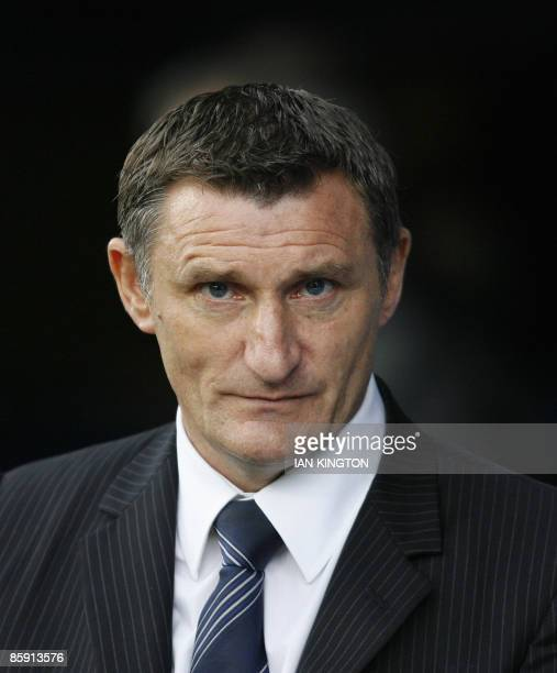 Tony Mowbray Manager of West Bromwich Albion is pictured before the Premier League football match against Portsmouth at Fratton Park in Portsmouth,...