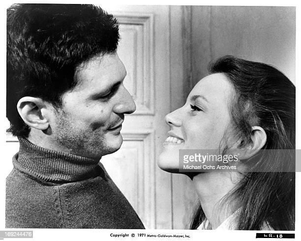 Tony Musante greets Trish Van Devere in a scene from the film 'The Last Run' 1971