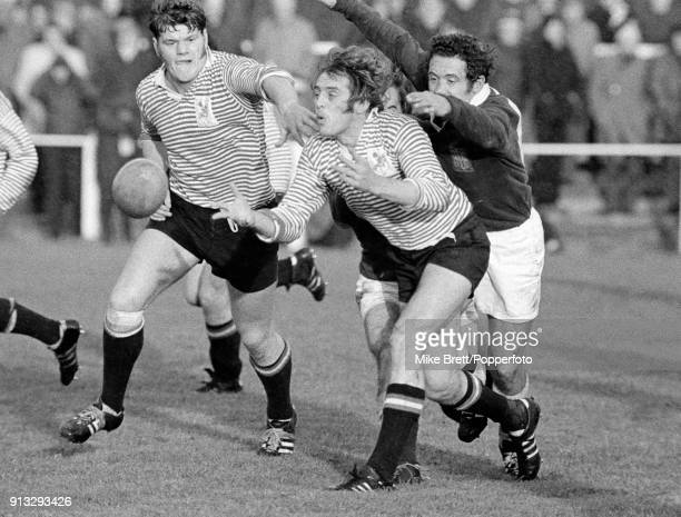 Tony Neary and Fran Cotton of Lancashire in action during a County Championship rugby union match against Durham at Fylde circa 1973 Lanashire won 240