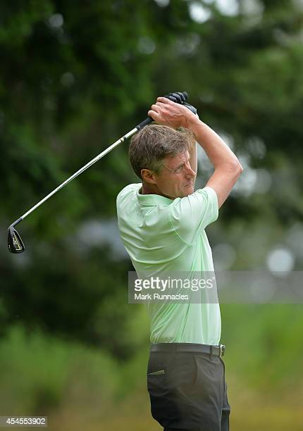 Tony Newman of John O'Gaunt Golf Club in action during the second round of the Lombard Trophy Grand Final at Gleneagles on September 3 2014 in...