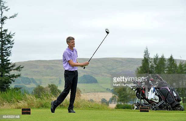 Tony Newman of John O'Gaunt Golf Club on the 17th tee during the first round of the Lombard Trophy Grand Final at Gleneagles on September 2 2014 in...