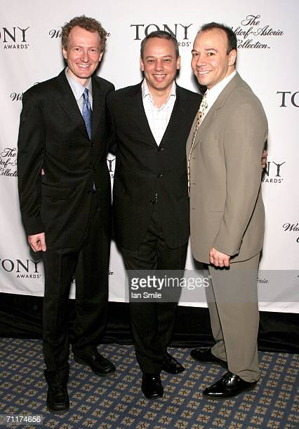 Tony nominees Bob Martin Danny Burstein and Roy Miller pose at The Tony Awards Honor Presenters And Nominees at the Waldorf Astoria on June 10 2006...