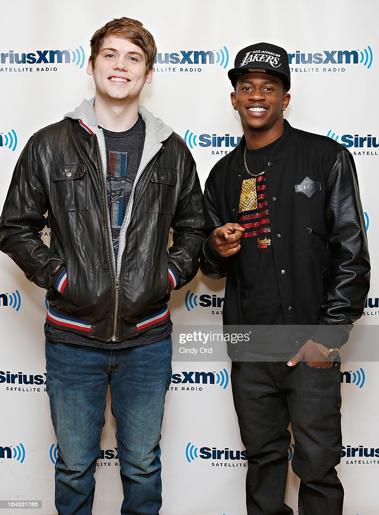 Tony Oller and Malcolm David Kelley of MKTO visit the SiriusXM Studios on March 22, 2013 in New York City.