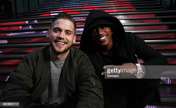 Tony Oller and Malcolm Kelley of American musical duo 'MKTO' pictured in World Square in Sydney New South Wales