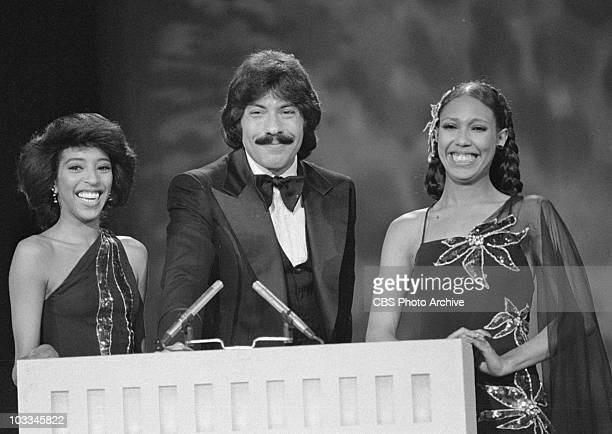 Tony Orlando and Dawn on THE ROCK MUSIC AWARDS Image dated August 9 1975