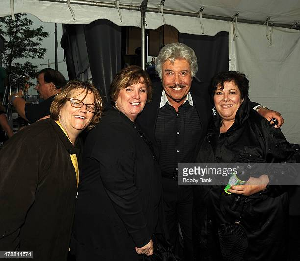 Tony Orlando and Johanna Antonacci attend Cousin Brucie's 3rd Annual Palisades Park Reunion Show at Meadowlands State Fair on June 27 2015 in East...