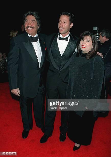 Tony Orlando arrives with his wife Francine and their son Jon