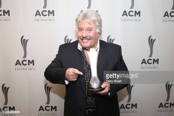 Tony Orlando with Mohegan Sun Arena backstage at the 13th Annual ACM Honors at Ryman Auditorium on August 21 2019 in Nashville Tennessee