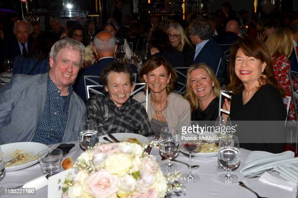 Tony Oursler Laurie Anderson Toni Ross and Davia Nelson attend the Guild Hall Academy Of The Arts 34th Annual Achievement Awards Dinner at The...
