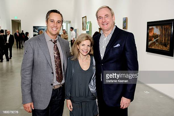 Tony Owen Stephen Maguire and Jennifer Maguire attend ESMoA Celebrates Opening Experience With DESIRE Exhibit at El Segundo Museum of Art on January...